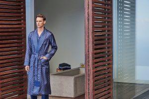men silk robe
